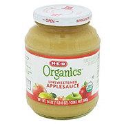 H-E-B Organics Unsweetened Applesauce Jar