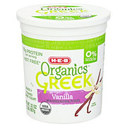 H-E-B Organics Vanilla Greek Yogurt