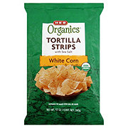 H-E-B Organics White Corn Tortilla Strips With Sea Salt