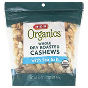 H-E-B Organics Whole Dry Roasted Cashews With Sea Salt
