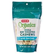 H-E-B Organics Whole Dry Roasted Cashews With Sea Salt