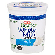 H-E-B Organics Whole Milk Plain Yogurt