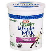 H-E-B Organics Whole Milk Vanilla Yogurt