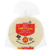 H-E-B Original Flour Tortillas with Convenient Resealable Bag