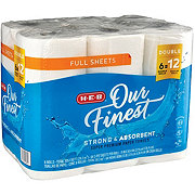 H-E-B Our Finest Full Sheets Double Roll Paper Towels