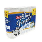 H-E-B Our Finest Ultra Soft Bath Tissue Double Rolls