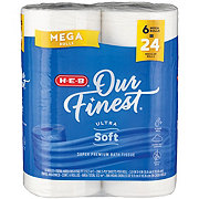 H-E-B Our Finest Ultra Soft Mega Roll Bath Tissue