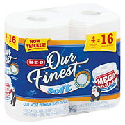 H-E-B Our Finest Ultra Soft Mega Roll Toilet Paper