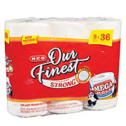 H-E-B Our Finest Ultra Strong Mega Roll Bath Tissue