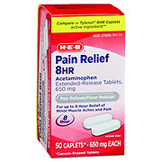 H-E-B Pain Relief 8 Hour Acetaminophen 650 Mg Extended Release Caplets