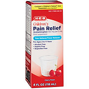 H-E-B Pain Relief Acetaminophen Children's Cherry Flavor