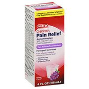 H-E-B Pain Relief Children's Acetaminophen Oral Suspension Grape Flavor