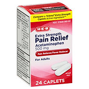 H-E-B Pain Relief Extra Strength 500 Mg Acetaminophen Caplets