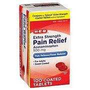 H-E-B Pain Relief Extra Strength Acetaminophen 500 mg Easy Tabs