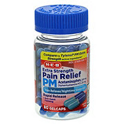 H-E-B Pain Relief PM Extra Strength Gel Capsules Clear Bottle