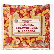 H-E-B Peaches, Strawberries, and Bananas (No Sugar Added)