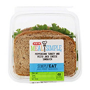 H-E-B Peppercorn Turkey and Pesto Jack Cheese Sandwich