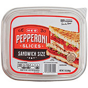 H-E-B Pepperoni Slices