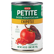 H-E-B Petite Diced Tomatoes With Chipotle Peppers