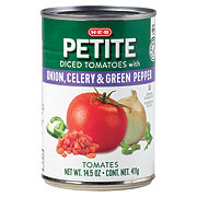 H-E-B Petite Diced Tomatoes With Onion Celery & Green Pepper