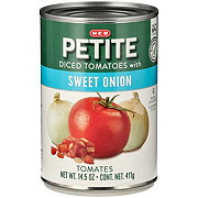 H-E-B Petite Diced Tomatoes With Sweet Onion