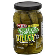 H-E-B Pickle Me Dilley Kosher Dill Gherkins