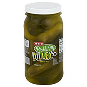 H-E-B Pickle Me Dilley Original Whole Dill Pickles