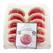 H-E-B Pink Frosted Sugar Cookies