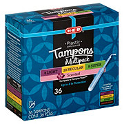 H-E-B Plastic Applicator Multi-Pack Deodorant Tampons