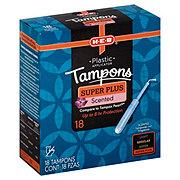H-E-B Plastic Super Plus Deodorant Tampons