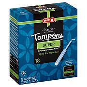 H-E-B Plastic Super Tampons