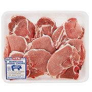 H-E-B Pork Assorted Loin Chops Bone-In Thin Case Ready Value Pack