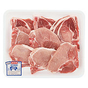 H-E-B Pork Assorted Loin Chops Bone-In Thin Value Pack