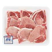 H-E-B Pork Assorted Loin Chops Bone-In Value Pack