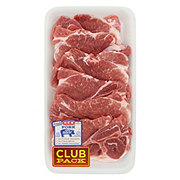 H-E-B Pork Bone-In Butt Steaks, Club Pack