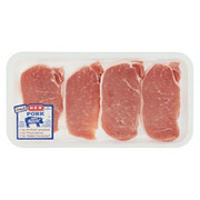 H-E-B Pork Center Loin Chops Boneless Thin Tenderized