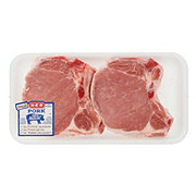 H-E-B Pork Center Rib Chops Bone-In Thick