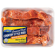 H-E-B Pork Seasoned Country Style Ribs Bone In