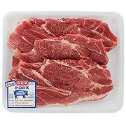 H-E-B Pork Steak Bone-In Thick Value Pack, 3-4 steaks