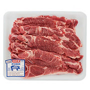 H-E-B Pork Steak Bone-In Thin Value Pack, 4-5 steaks