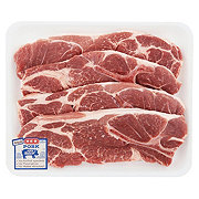 H-E-B Pork Steak Bone-In Value Pack, 4-5 steaks