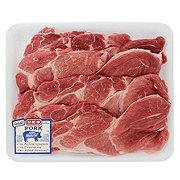 H-E-B Pork Steak Boneless Value Pack, 4-5 steaks