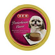 H-E-B Porterhouse Flavor in Meaty Juices Wet Dog Food