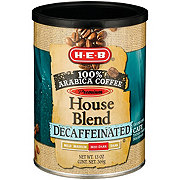 H-E-B Premium 100% Arabica Decaf House Med-Dark Ground Coffee