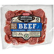 H-E-B Premium Beef Smoked Sausage Slices Value Pack