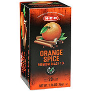 H-E-B Premium Black Tea Bags, Orange Spice