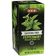 H-E-B Premium Caffeine Free Herbal Tea Bags, Peppermint