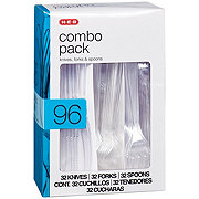 H-E-B Premium Clear Knives, Forks and Spoons Combo Pack