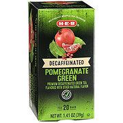 H-E-B Premium Decaffeinated Pomegranate Green Tea Bags