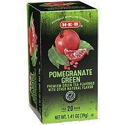 H-E-B Premium Green Tea Bags, Pomegranate
